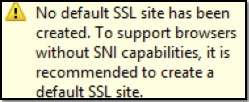 Default SSL Site Warning